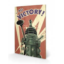 Doctor Who tableau bois Victory 40 x 60 cm